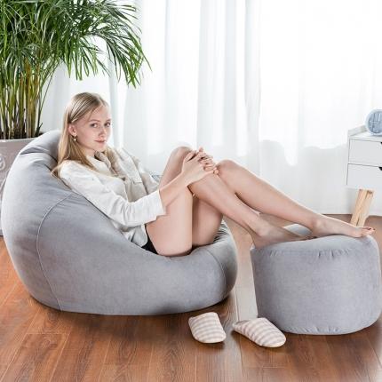 百思寒 2018新款圆麻豆袋型懒人沙发(包邮)太空灰