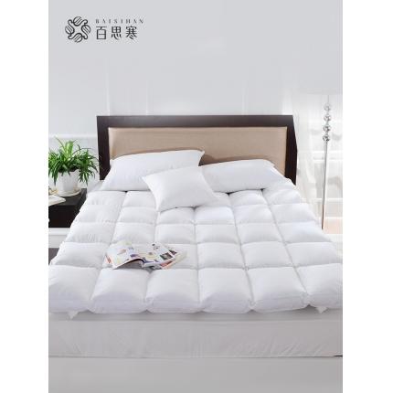 百思寒加厚白鹅毛片羽绒床垫 五星级酒店床垫保暖单双人学生床褥