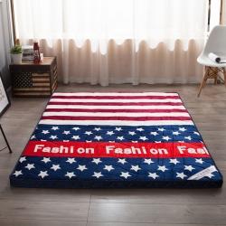 (总)迪乐妮垫业 法莱绒印花透气立体床垫