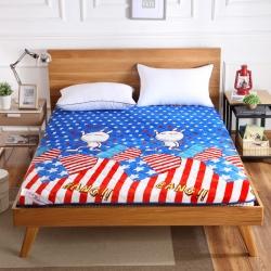 迪乐妮垫业 新款独家卡通法莱绒加厚床垫