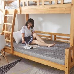 (總)迪樂妮 單人床透氣記憶海綿學生床墊5-10厘米灰色