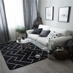 倪家2019新款北歐地墊客廳地毯地墊定制茶幾墊飄窗墊z線條
