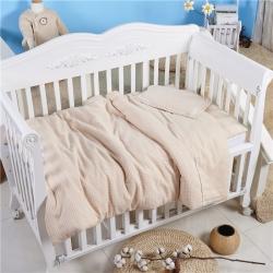 小马达 彩棉纱布婴幼儿套件彩棉细小格