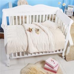 小马达 彩棉纱布婴幼儿套件彩棉条纹