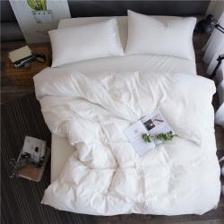 (总)梦之坞家纺 色织水洗棉纯色四件套床单款