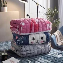 (總)眠勢力法蘭絨床墊軟薄法萊絨加厚珊瑚絨可水洗保暖床褥毛毯