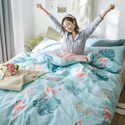 小米家居 2018新款全棉光阴故事系列床单款 叶香鸟语