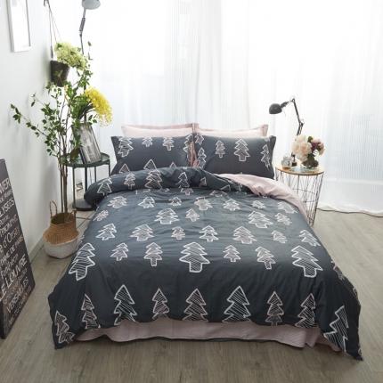 (总)清雅福 新品印花系列四件套床单款