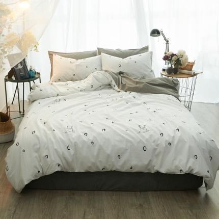 清雅福 水洗棉四件套床单款迷鹿
