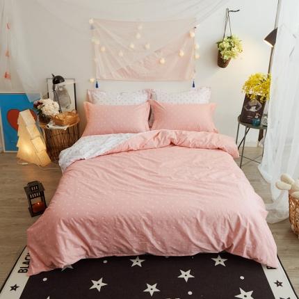 清雅福 新品印花系列四件套床单款粉公主