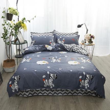 清雅福 新品印花系列四件套床单款欢乐牧场
