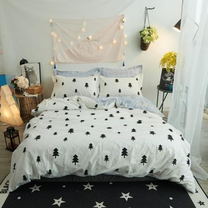 清雅福 新品印花系列四件套床单款摩卡森林
