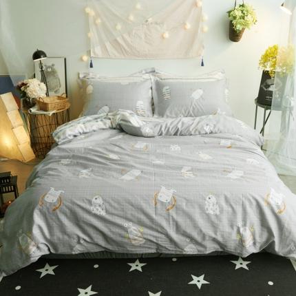 清雅福 新品印花系列四件套床单款童话