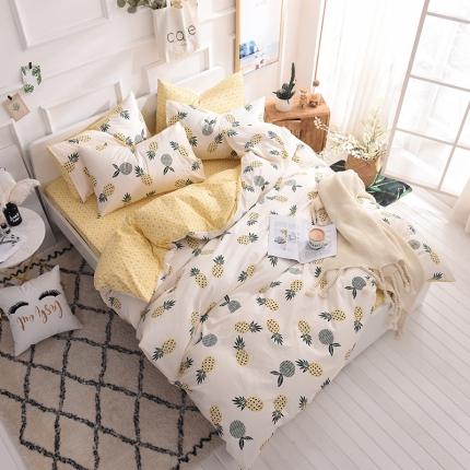 (总)清雅福家纺 13374全工艺喷气全棉四件套床单款