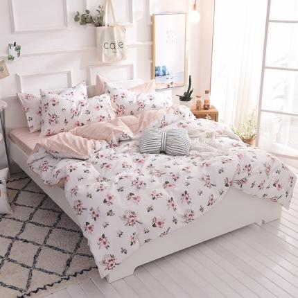 清雅福家纺 13374全工艺喷气全棉四件套床单款简爱
