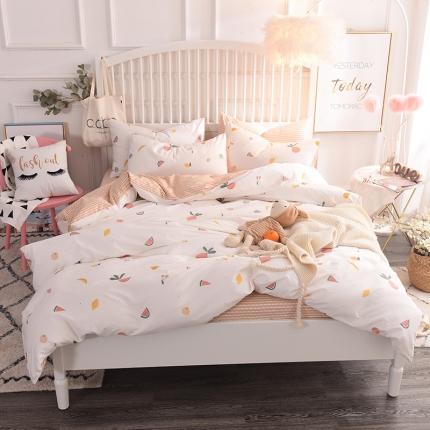 (总)清雅福 13374全工艺喷气新品四件套床单款