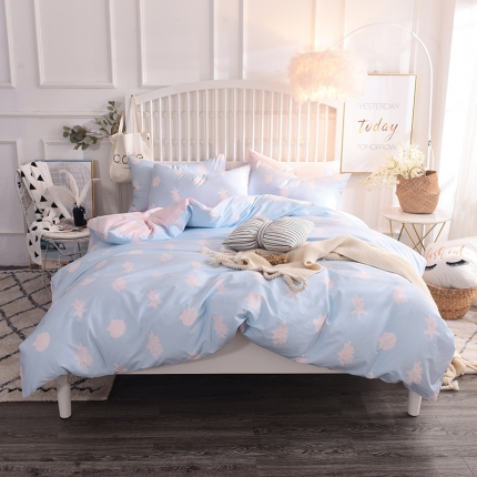 清雅福 13374全工艺喷气新品四件套床单款 海洋之恋
