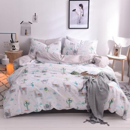 清雅福 13374全工艺喷气新品四件套床单款 异域风情