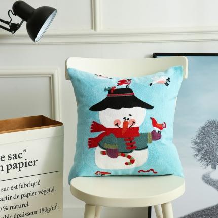 斐凡国际 圣诞毛巾绣抱枕 雪莉