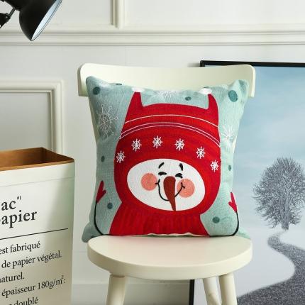 斐凡国际 圣诞毛巾绣抱枕 皮诺曹
