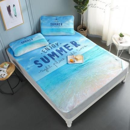 斐凡国际 酷赛尔凉感冰柔丝空调软席 大版 夏日沙滩