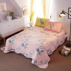 舒居家纺 宜家全棉床盖三件套 虞美人