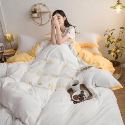 (總)宇航家紡 2019新款網紅款水洗棉四件套床單款專版花型
