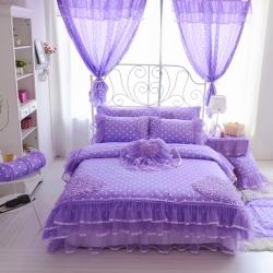 蔓越情家纺 全棉韩版-心恋 紫色