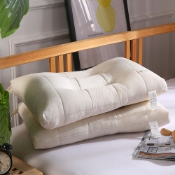 元元被芯 2019全棉舒適羽絲枕 定型枕芯48*74cm