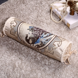爱家居 欧式多功能糖果枕沙发抱枕 加大时尚民族风圆柱形靠垫