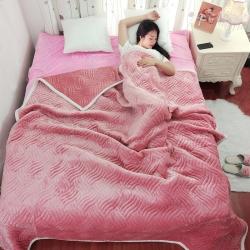 简约被毯 夹棉复合毯 加厚双层毛毯 法莱绒毯子 床单 冬被子