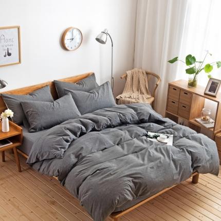 日式色织水洗棉四件套跑量爆款 床单款