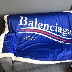 米素 巴黎世家毯子 羊羔绒毛毯 休闲小毯子单双人盖毯