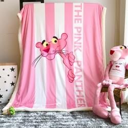 米素 网红款少女心Pink粉红豹毯子 羊羔绒毛毯 休闲盖毯