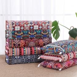 总)明星枕业荞麦枕-老粗布全棉荞麦皮壳枕芯-可调节高度