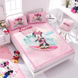 正版授权迪士尼Disney凉席冰丝席-冲浪米妮 曼丝