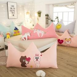(总)激萌时代 2018 床头靠枕抱枕毛绒玩具皇冠大靠背