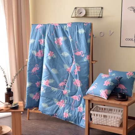 屹宬家纺 全棉印花抱枕被靠垫被两用抱枕被子