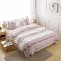 韩版简约水洗棉四件套宿舍三件套空调被床单款