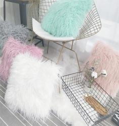仙女级网红羊滩毛抱枕