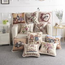 样板房欧式抱枕 沙发汽车靠枕 植物花香厂家生产澳绒抱枕