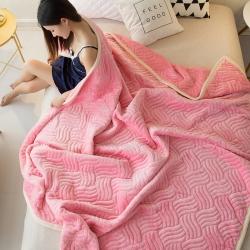 冬季毛毯空调毯加厚珊瑚绒毛巾被盖毯法兰绒午睡毯毯子羊羔绒毯