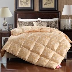 傲蕾良品正宗100支真丝棉大提花匈牙利进口95白鹅绒被冬被