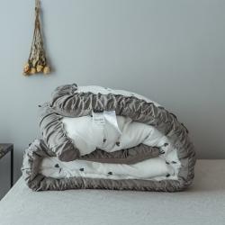 新品 立奥被业 韩版水洗棉刺绣冬被 冬季被芯加厚被子羽丝绒被