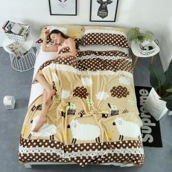 云貂绒毛毯 床单法莱绒毯子法莱绒四件套珊瑚绒毛毯云貂绒枕芯套