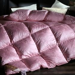 抗日家纺锁绒绸真丝大提花羽绒被鹅绒被被芯被芯冬被有同款枕芯