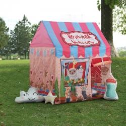 梦想屋 儿童游戏屋分床神器游戏帐篷卡通印花系列粉色城堡