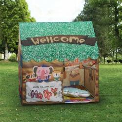 夢想屋 兒童游戲屋分床神器游戲帳篷卡通印花系列 綠色森林