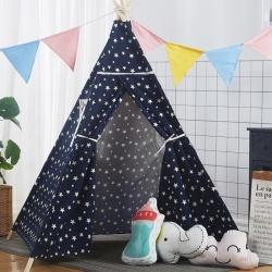 夢想屋 兒童游戲屋分床神器游戲帳篷印第安尖頂系列小星星