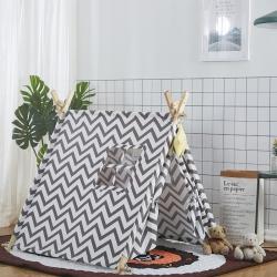梦想屋 儿童游戏屋分床神器游戏帐篷方顶系列 灰色波浪